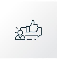 Customer testimonials icon line symbol premium vector