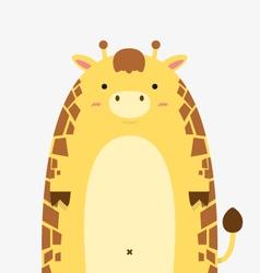 cute fat big giraffe vector image