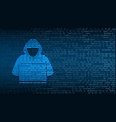 cyber technology security hacker on digital vector image