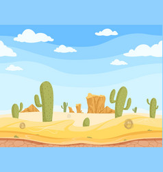 Desert seamless background wild west game outdoor vector