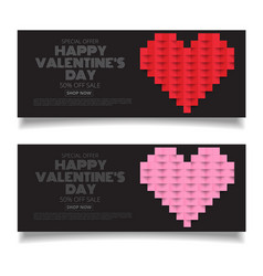 design template heart for valentines day vector image