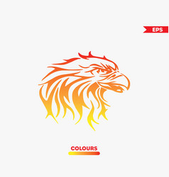 eagle on fire vector image