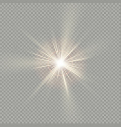 Easy to use effect of sunlight special lens flare vector