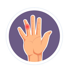 Finger injury isolated human palm rheumatoid vector