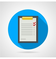 Flat icon for clipboard with form vector image