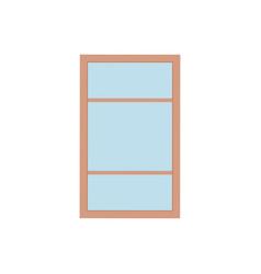 flat plastic window vector image