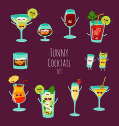 funny cocktail vector image