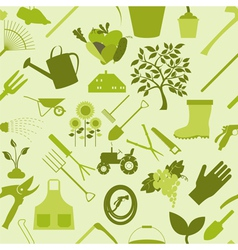 Gardening background Seamless Pattern vector image