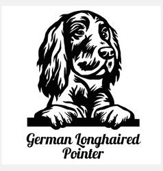 German longhaired pointer - peeking dogs - breed vector
