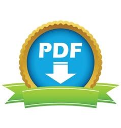 Gold pdf download logo vector image