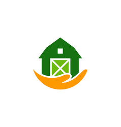 Hand farm logo icon design vector
