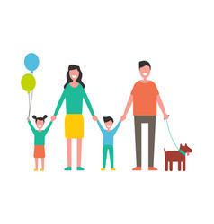 Happy family colorful icon in cartoon style vector
