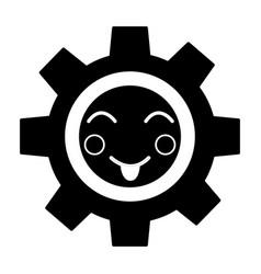 Happy gear kawaii icon image vector