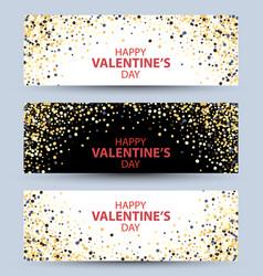 happy valentine day festive vector image
