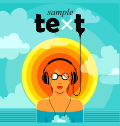 hot music vector image
