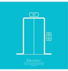 Icon elevator vector image