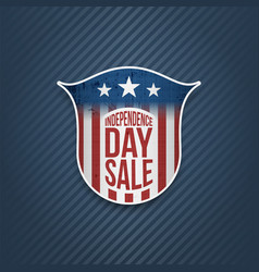Independence day sale sign on blue background vector
