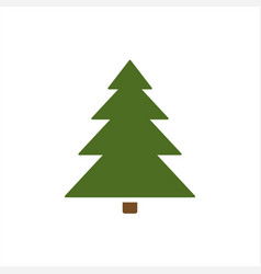 isolated christmas tree icon vector image