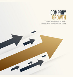 leading arrow for company brand growth concept vector image