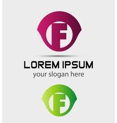 Letter f logo icon design template elements vector