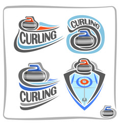 Logo curling stone vector