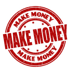 make money grunge rubber stamp vector image