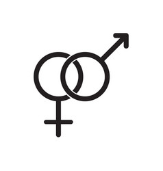 male and female gender symbols icon vector image