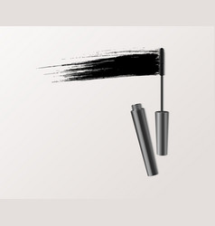 mascara fashion banner clear template for vector image