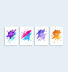 modern abstract backgrounds posters vector image