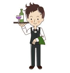 Occupation waiter vector