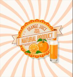 Orange juice retro vintage background vector