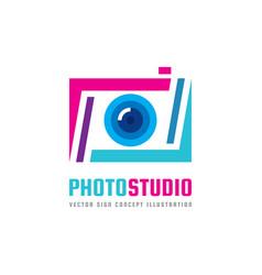 photo studio - logo template concept vector image