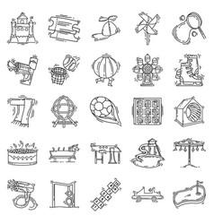 playground kids icon set vector image