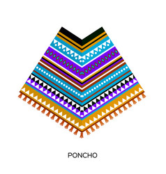 Poncho clothing colorful carnival fashion ethnic vector
