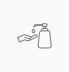 Pump bottle icon alcohol gel pump bottle vector