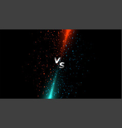 Red and blue light sparkle versus vs screen vector