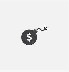 risk investment base icon simple sign vector image