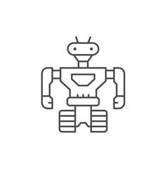 Robot line icon vector