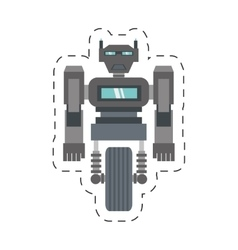 robot machine science technology cutting line vector image