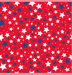 seamless pattern color stars vector image