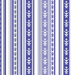 Seamless striped pattern with abstract motif in vector image vector image