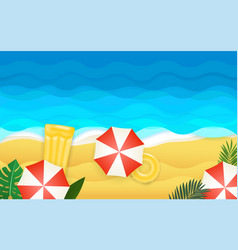 seaside tropical vector image