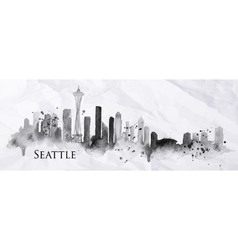 Silhouette ink Seattle vector