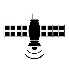 Silhouette satellite telecommunication transmitter vector