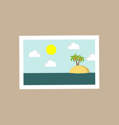 small island portrait scenery vector image