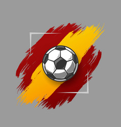 soccer ball on grunge vector image