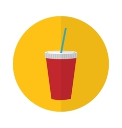 soda drink icon vector image