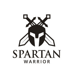 spartan warrior logo design inspiration vector image