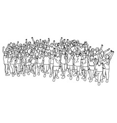 sport people standing together with fist gesture vector image