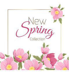 spring sale card with sakura vector image